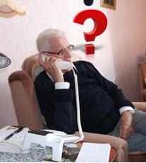 Man phoning NHS 111