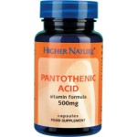 Pantothenic Acid 500mg 60 Capsules