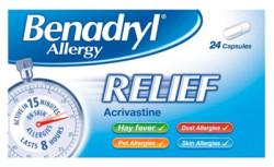 Benadryl Allergy Relief Capsules 24x