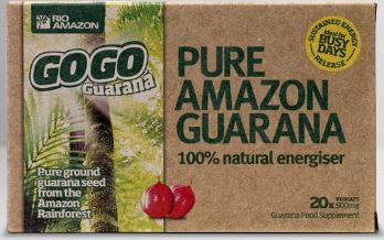 GoGo Guarana 20 Caps (trial size) 500mg