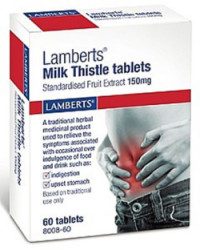 Lamberts Milk Thistle 150mg 60 Tablets